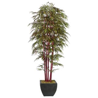 Laura Ashley Realistic 8-foot Artificial Bamboo Tree|https://ak1.ostkcdn.com/images/products/5599213/P13362569.jpg?impolicy=medium