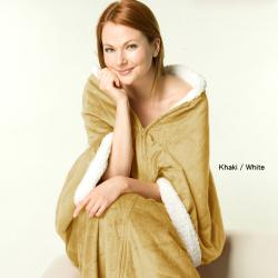 Luxurious Sherpa/Microplush Three-in-one Softie Wrap - Thumbnail 1