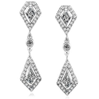 Annello by Kobelli 14k White Gold 1 1/10ct TDW Diamond Earrings (G-H, SI1-SI2)
