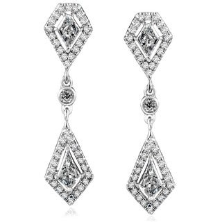 Annello by Kobelli 14k White Gold 1 1/10ct TDW Diamond Earrings