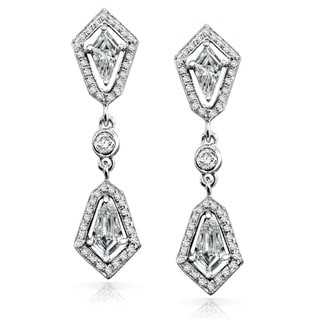 Annello by Kobelli 14k White Gold 7/8ct TDW Diamond Earrings (G-H, SI1-SI2)
