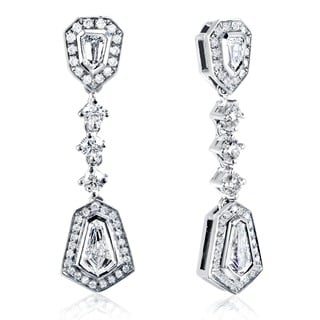 Annello by Kobelli 14k White Gold 1 1/2ct TDW Diamond Earrings (F-G, VS1-VS2)