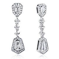 Annello by Kobelli 14k White Gold 1 1/2ct TDW Diamond Earrings (F-G, VS1-VS2)