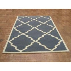 Alliyah Handmade Bluish-Grey New Zealand Blend Wool Rug (8' x 10') - Thumbnail 1