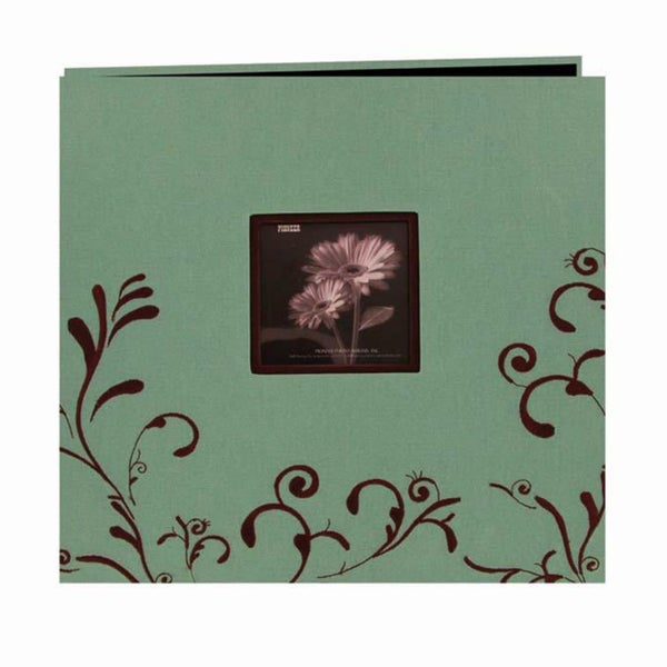 Pioneer Scroll Embroidery Fabric Post 12-inch Bound Album