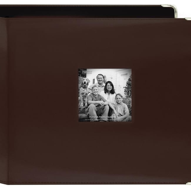Pioneer Photo Albums Pioneer 3-Ring Sewn Leatherette 12-i...
