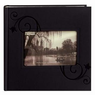 Pioneer PVC-Free 200-pocket Black Leatherette Photo Album (Pack of 2)