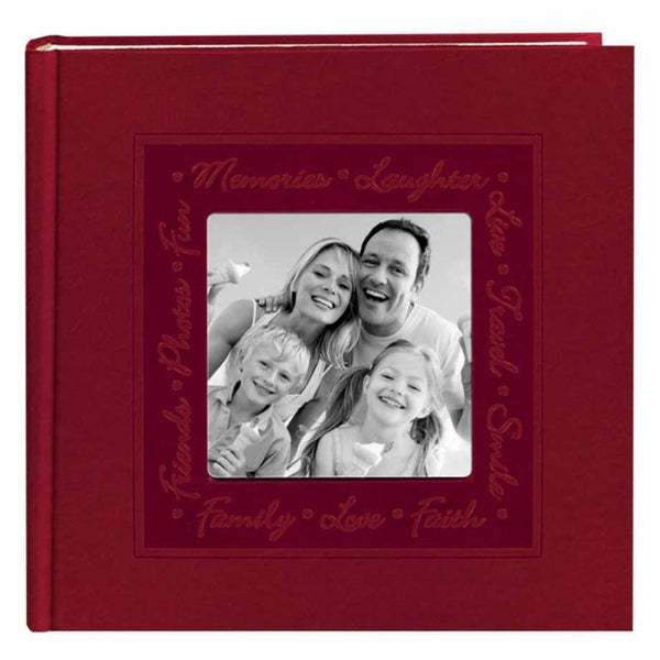 Pioneer Book-style Red Script Leatherette Photo Albums (Pack of 2)