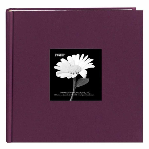 Pioneer Book-style Wildberry Purple Frame Photo Albums (Pack of 2)