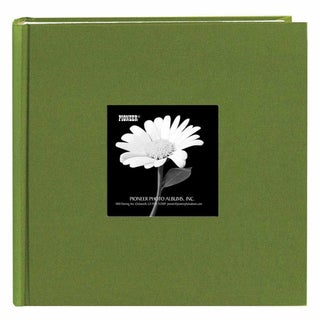 Pioneer Book-style Herbal Green Frame Photo Albums (Pack of 2)