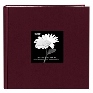 Pioneer Book-style Sweet Plum Frame Photo Albums (Pack of 2)