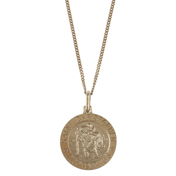 Goldplated Sterling Silver St. Christopher Necklace
