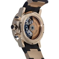 Ulysse Nardin Men's 'Maxi Marine Diver' Rose Gold Chronograph Watch