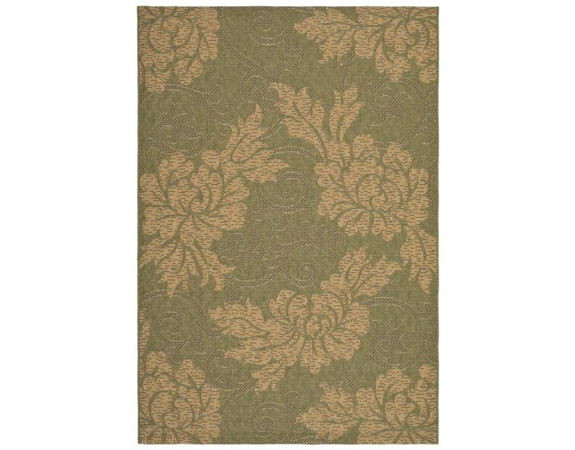Safavieh Indoor/ Outdoor Green/ Natural Rug - 9' x 12'