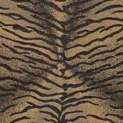 Safavieh Indoor/ Outdoor Black/ Natural Rug (9' x 12')