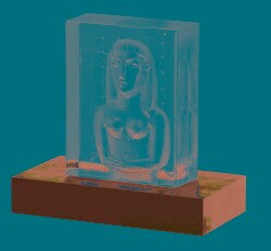 Kosta Boda Maiden Icon Sculpture