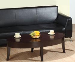 Furniture of America Iri Dark Brown Oval Coffee Table