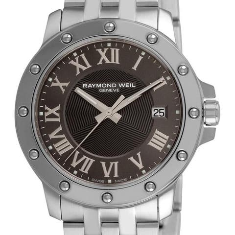 Raymond Weil Men's 5599-ST-00608 'Tango' Stainless Steel Grey Dial Watch