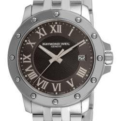 Raymond Weil Men's 5599-ST-00608 'Tango' Stainless Steel Grey Dial Watch https://ak1.ostkcdn.com/images/products/56/182/P12981271.jpg?impolicy=medium