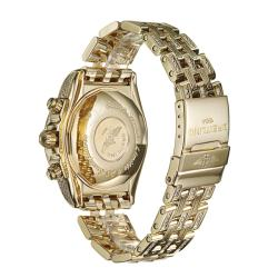 Breitling Mens Chronomat Evolution 18k Yellow Gold Diamond Watch
