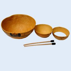 Hand-carved Wooden Calabash Water Drum (Ghana) - Thumbnail 0