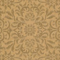 Safavieh Courtyard Graceful Natural/ Golden Indoor/ Outdoor Rug (8' x 11') - Thumbnail 2