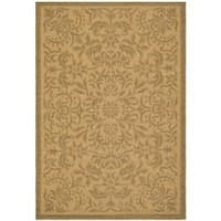 Safavieh Courtyard Graceful Natural/ Golden Indoor/ Outdoor Rug - 5'3 x 7'7