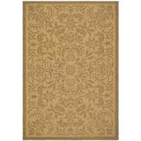 Safavieh Courtyard Graceful Natural/ Golden Indoor/ Outdoor Rug - 8' x 11'