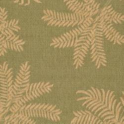 "Safavieh Courtyard Ferns Green/ Natural Indoor/ Outdoor Rug (2'7"" x 5') - Thumbnail 2"