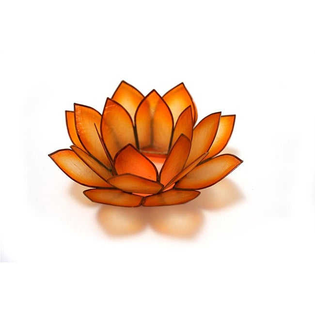 Capiz Shell Sunshine Lotus Tea Light (Philippines)
