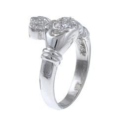 La Preciosa Sterling Silver Cubic Zirconia Claddagh Ring - Thumbnail 1