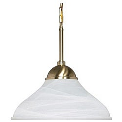 Energy Star 1-light Brass Pendant Light