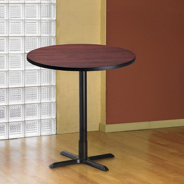 Shop Mayline Bistro Bar Height 42 Inch Round Table Free