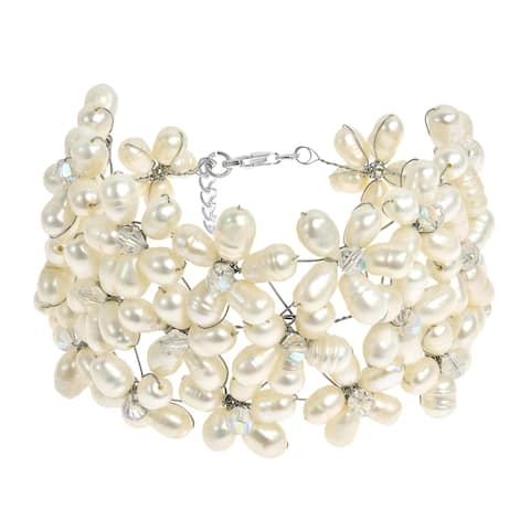 Handmade Classy Crystal Flower Bracelet (Thailand)