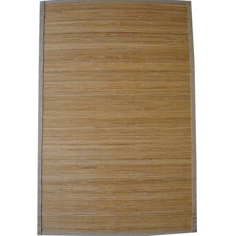 Handmade Natural Rayon from Bamboo Rug - 1'9 x 2'10
