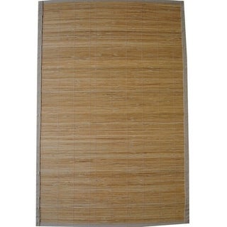 Asian Hand-woven Natural Rayon from Bamboo Rug (1'9 x 2'10)
