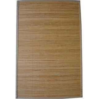 Handmade Asian Hand-woven Natural Rayon from Bamboo Rug - 1'9 x 2'10