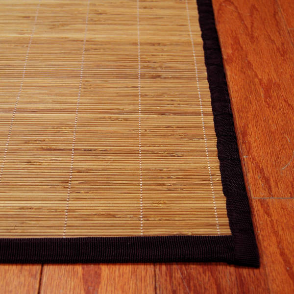 Asian Hand-woven Natural Rayon from Bamboo Rug (1'8 x 2'8)