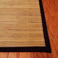 Handmade Asian Hand-woven Natural Rayon from Bamboo Rug - 1'8 x 2'8