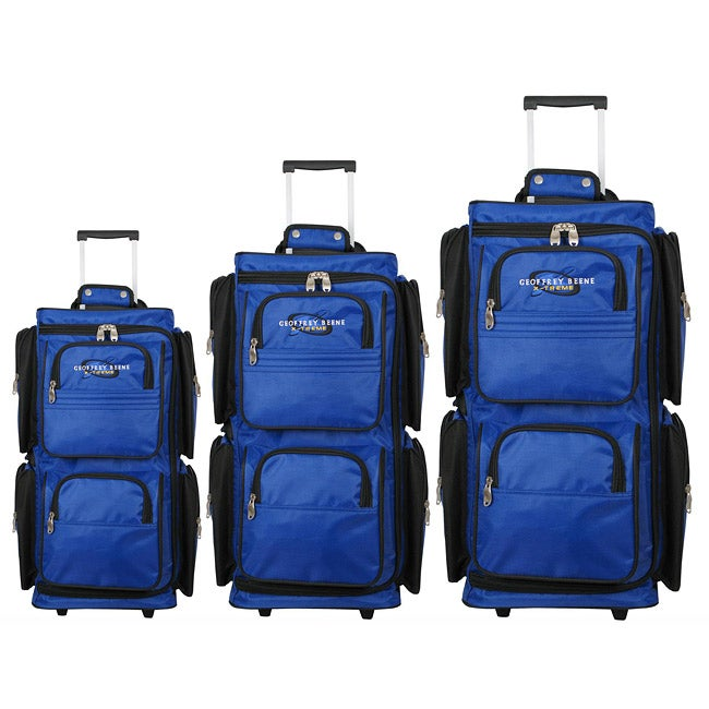 Geoffrey Beene 3-piece Vertical Duffel Luggage Set - Thumbnail 0