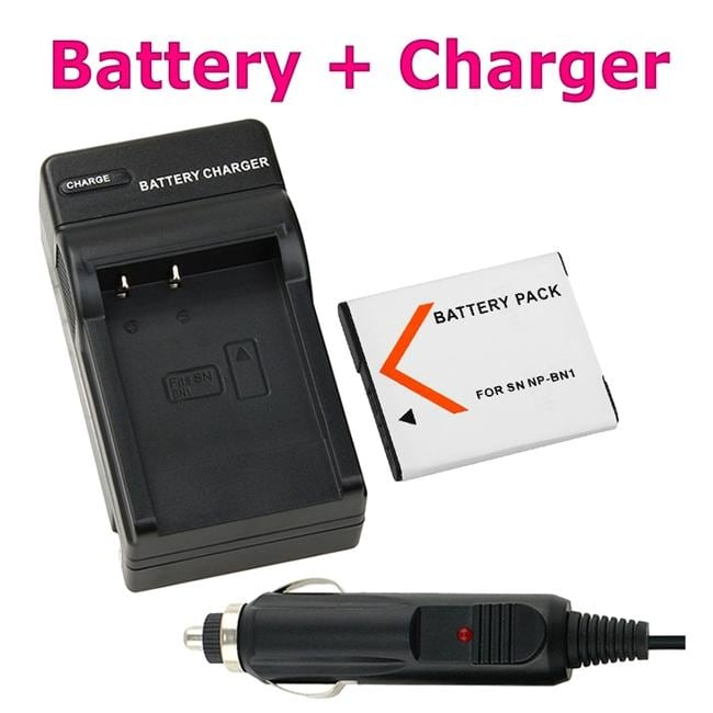 INSTEN Compatible Li-ion Battery/ Compact Battery Charger for Sony NP-BN1