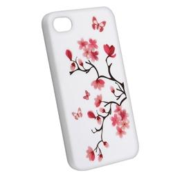 Blossom Butterfly Slim Rubber Coated Case for Apple iPhone 4 - Thumbnail 1