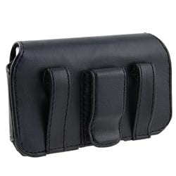 Black Leather Case with Screen Protector for BlackBerry Curve 3G/ 9330 - Thumbnail 1