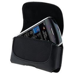 Black Leather Case with Screen Protector for BlackBerry Curve 3G/ 9330 - Thumbnail 2