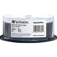 Verbatim BD-R DL 50GB 6X DataLifePlus White Inkjet Printable, Hub Pri