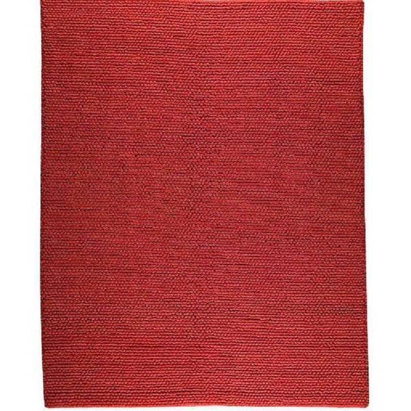 M.A.Trading Hand-woven Ladhak Dark Orange Wool Rug (6'6 x 9'9) (India) - 6'6 x 9'9