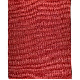 M.A.Trading Hand-woven Ladhak Dark Orange Wool Rug (6'6 x 9'9)