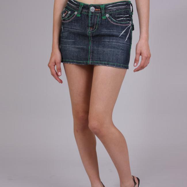 Laguna Beach Women's 'Laguna Beach' Indigo Denim Mini Skirt - Free ...
