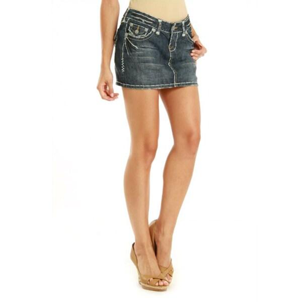 Laguna Beach Women's 'Corona Del Mar' Indigo Denim Mini Skirt with Zip Fly