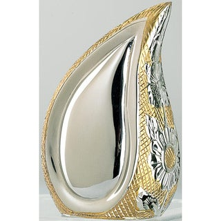 Teardrop of Love Two-tone Brass Keepsake Urn